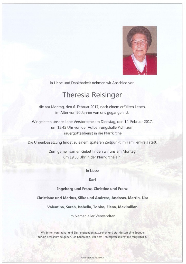 Theresia Reisinger