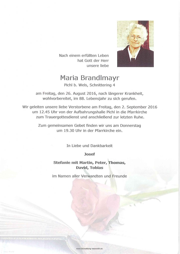 Brandlmayr Maria