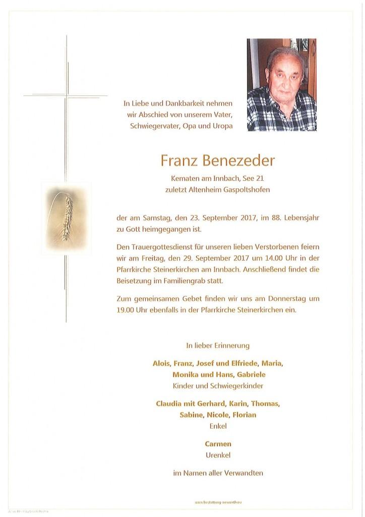 Franz Benezeder