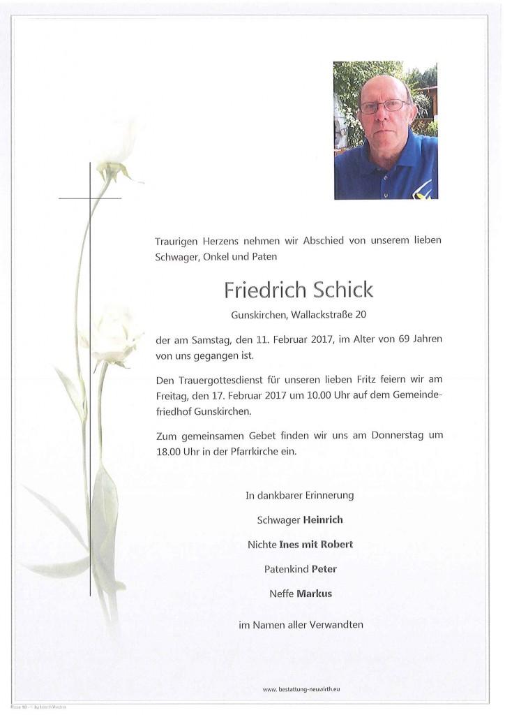 Friedrich Schick