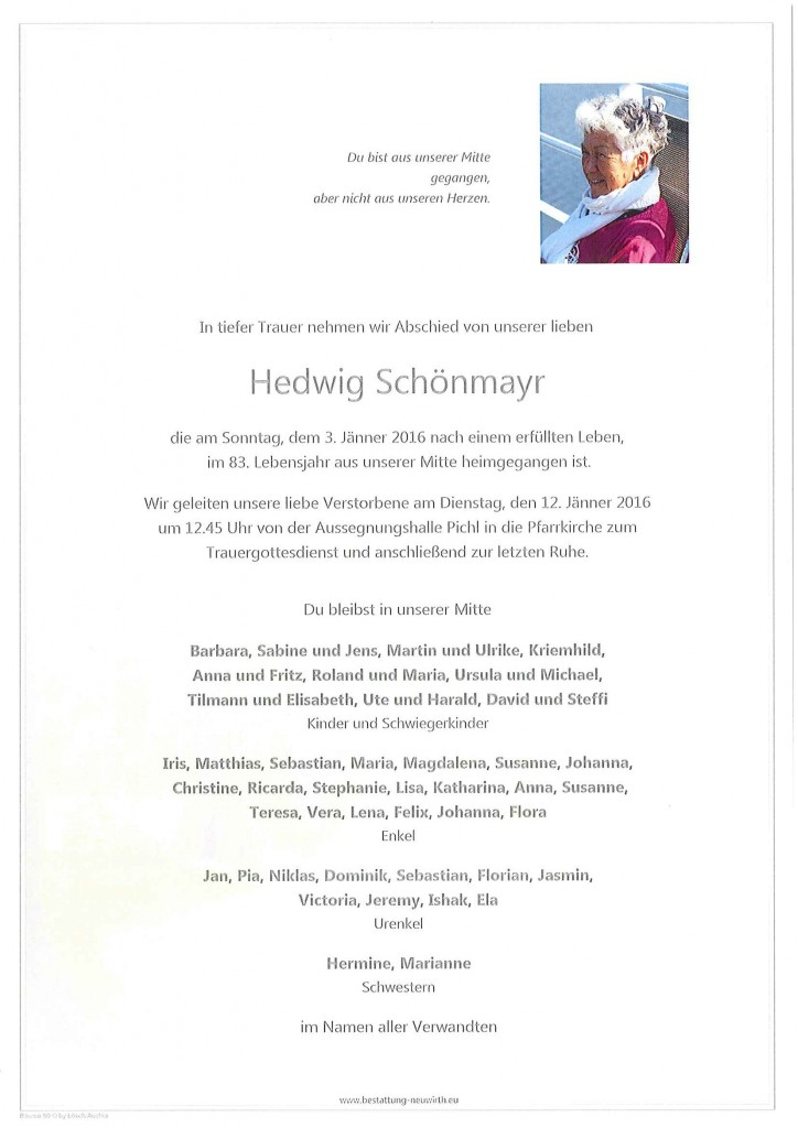Hedwig Schönmayr