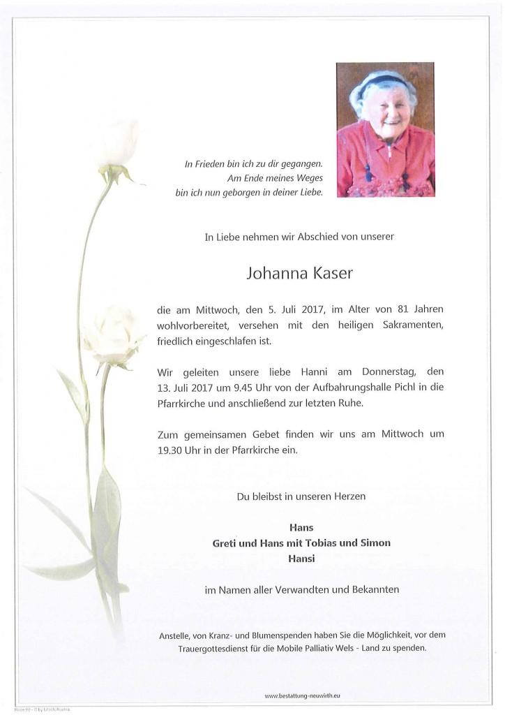Johanna Kaser