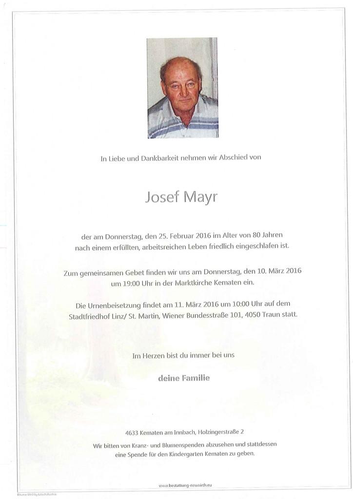 Mayr Josef